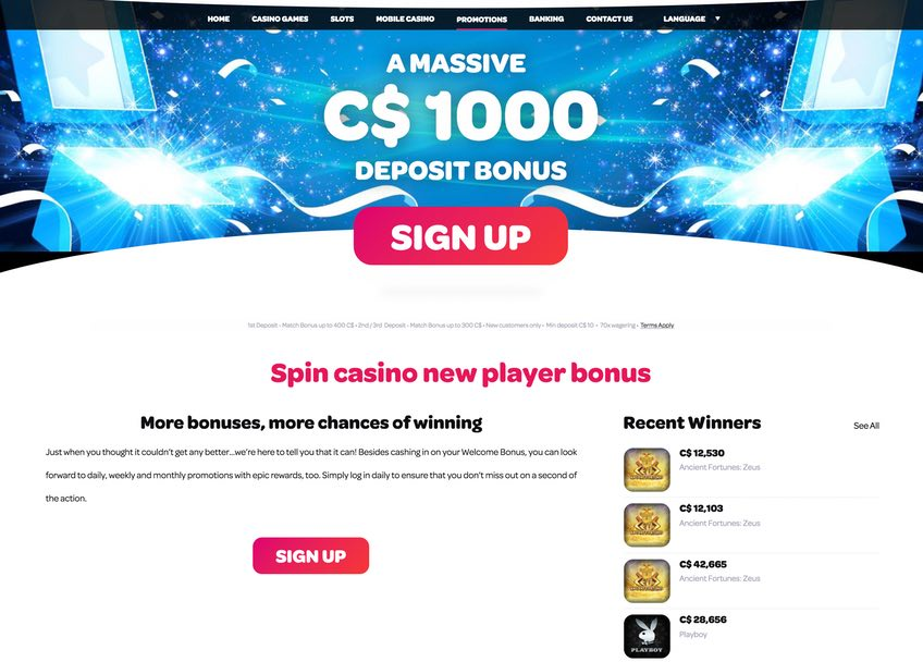 Spin Casino Promotion