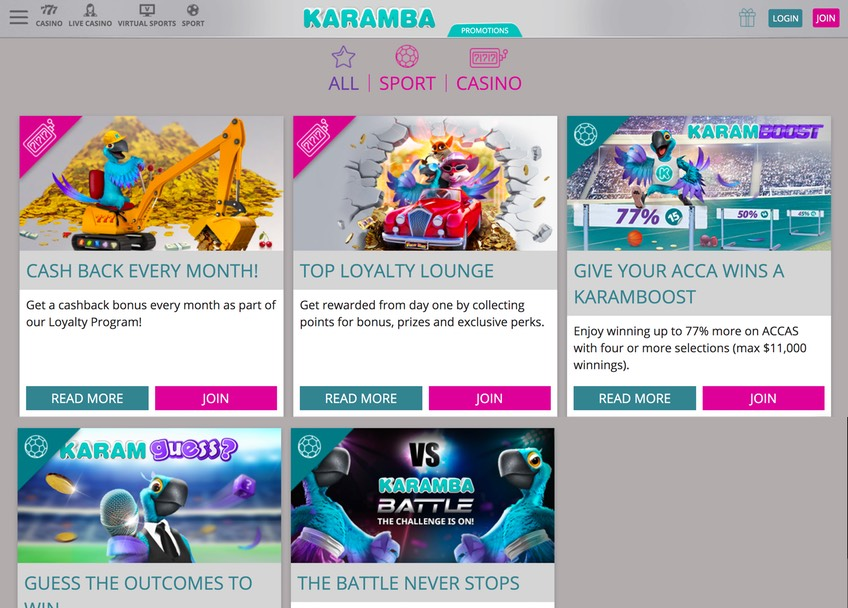 Karamba Promotions