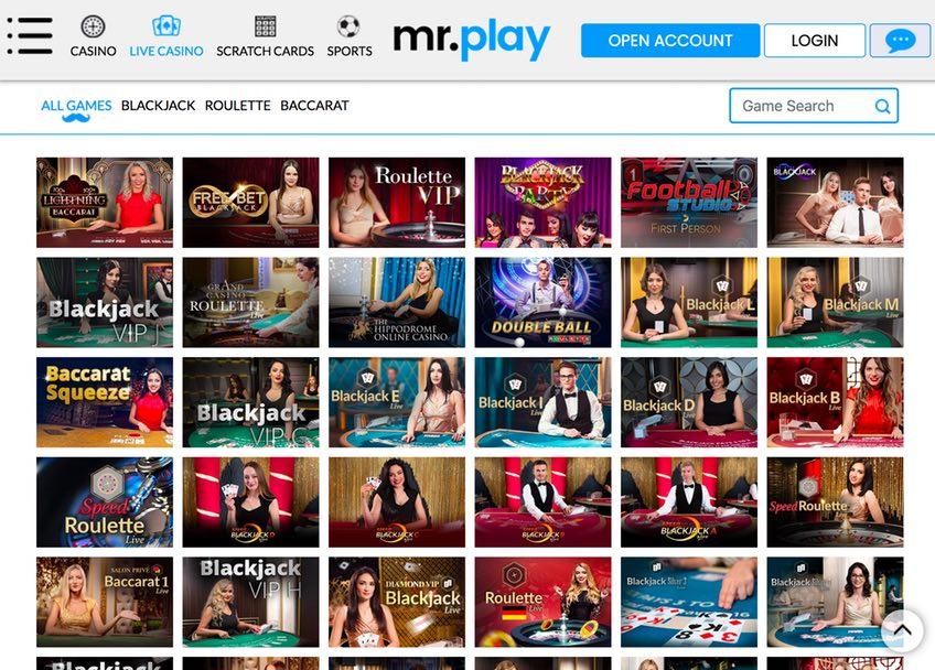 MrPlay Live Casino