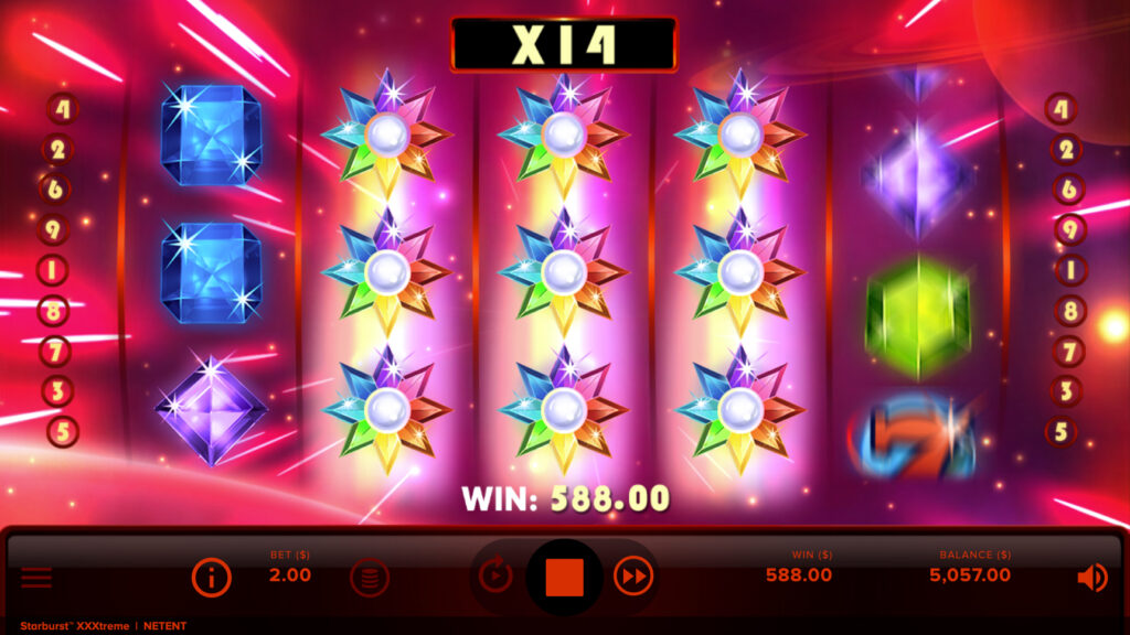 starburst xxxtreme multiplier